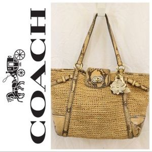 Coach Natural Straw Natalie Tote Limited Edition